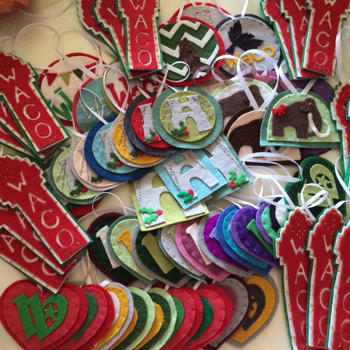 Waco ornaments