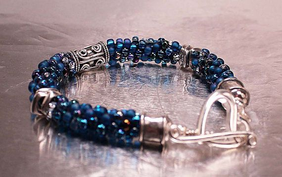 RESERVED for Erica All About Blue and Silver by EmaKDesigns
