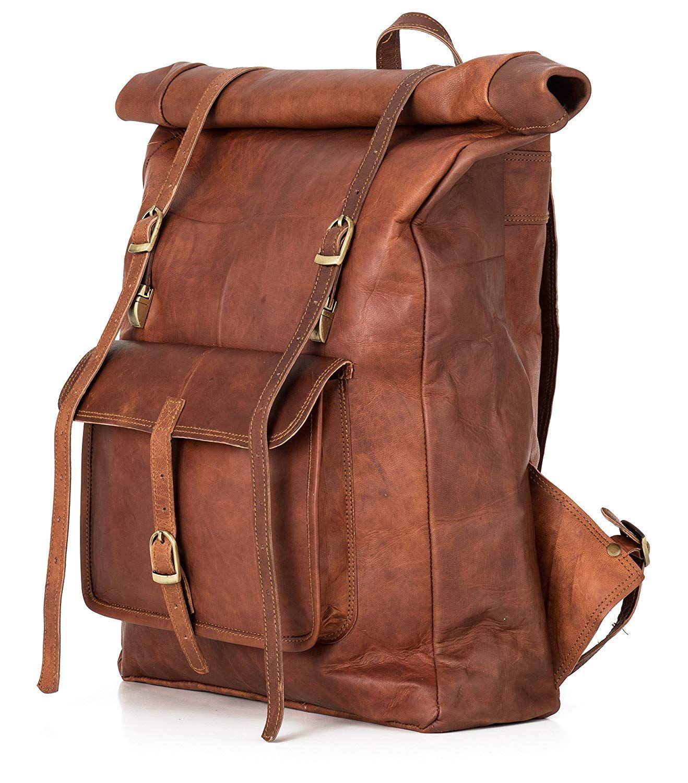 Rucksack Berliner Bags Leeds XL Roll Top aus Leder