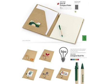 The Eco Logical A4 Folder Includes A Card And Pen Holder With 20