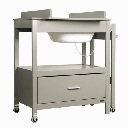 Badcommode Pericles Emma Grey Inclusief Lade Babykamers Tafel Lade Meubels