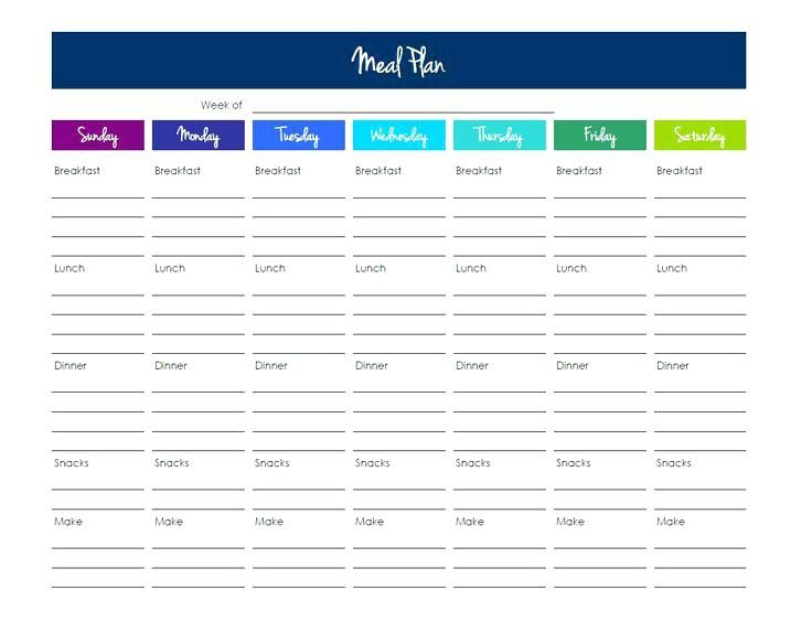 Monthly Meal Planner Template Excel Dinner Calendar