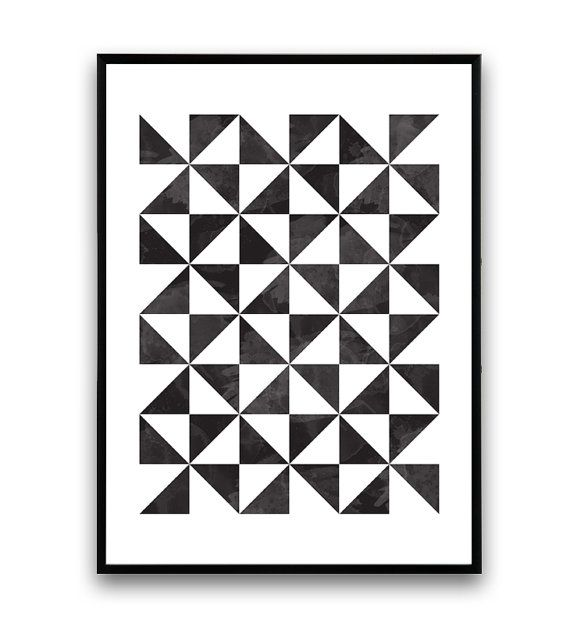 art g om trique imprimer scandinave affiche par wallzilla sur etsy affiche pinterest. Black Bedroom Furniture Sets. Home Design Ideas