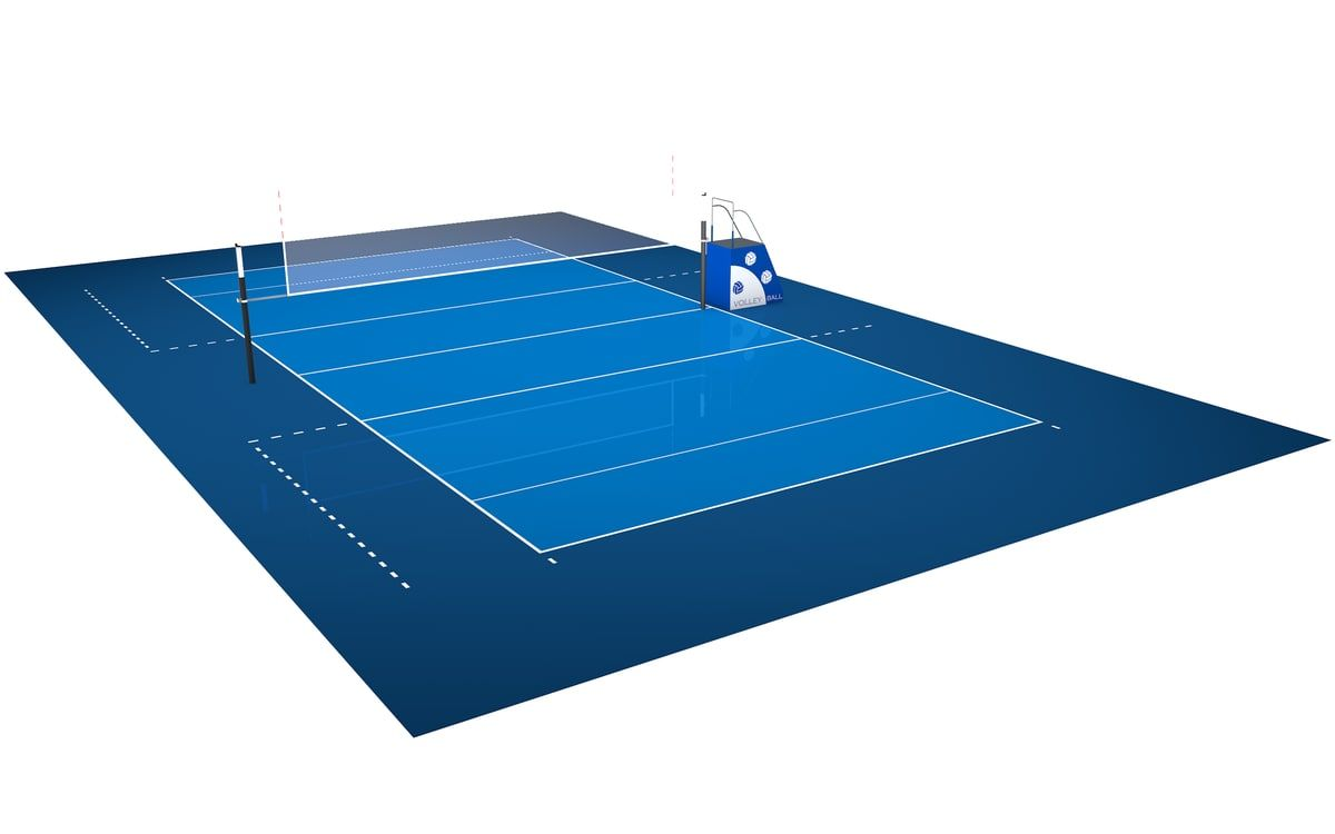 C4d Volleyball Court 3d Model Volleyball Court 3d Model