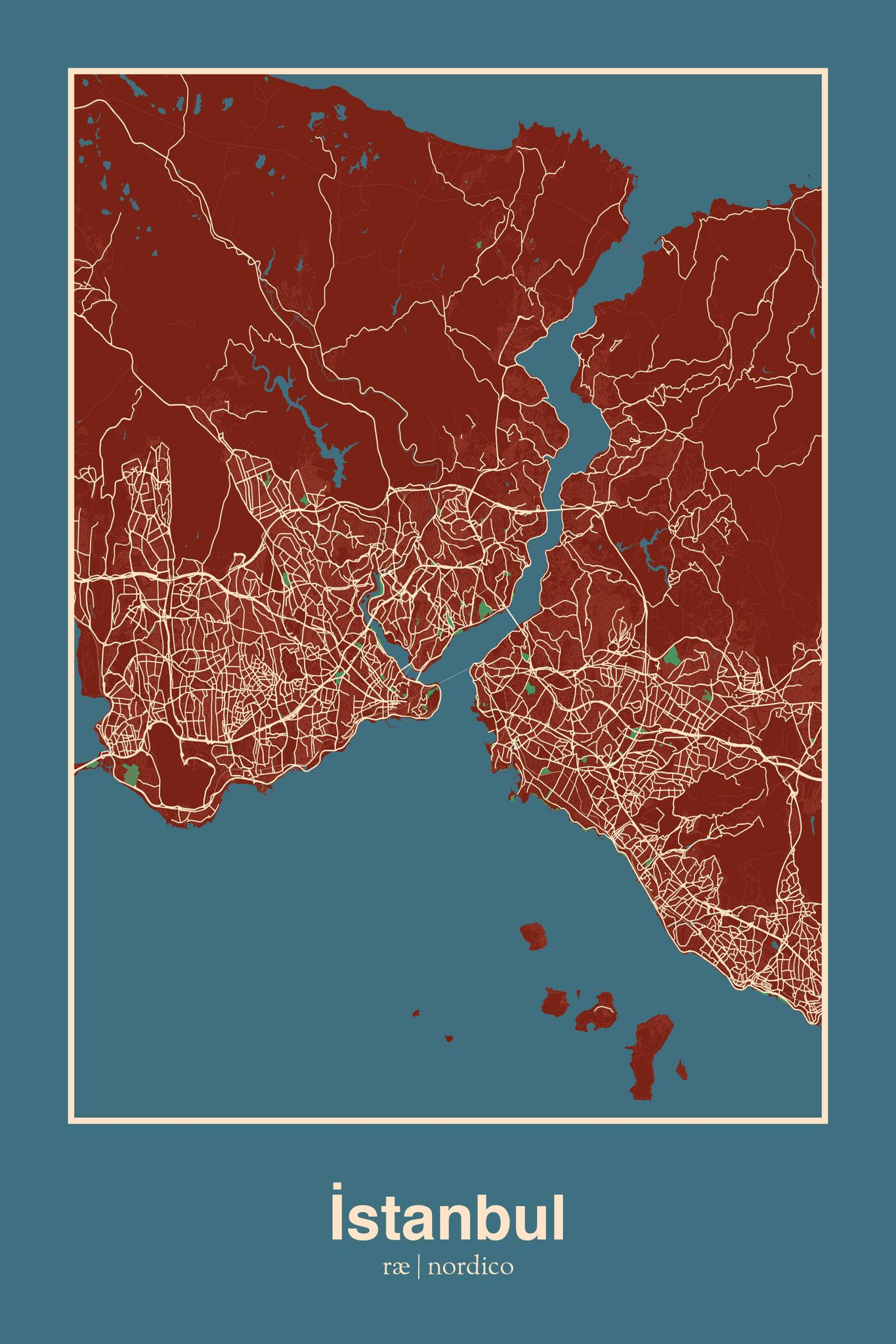 City map Istanbul Turkey