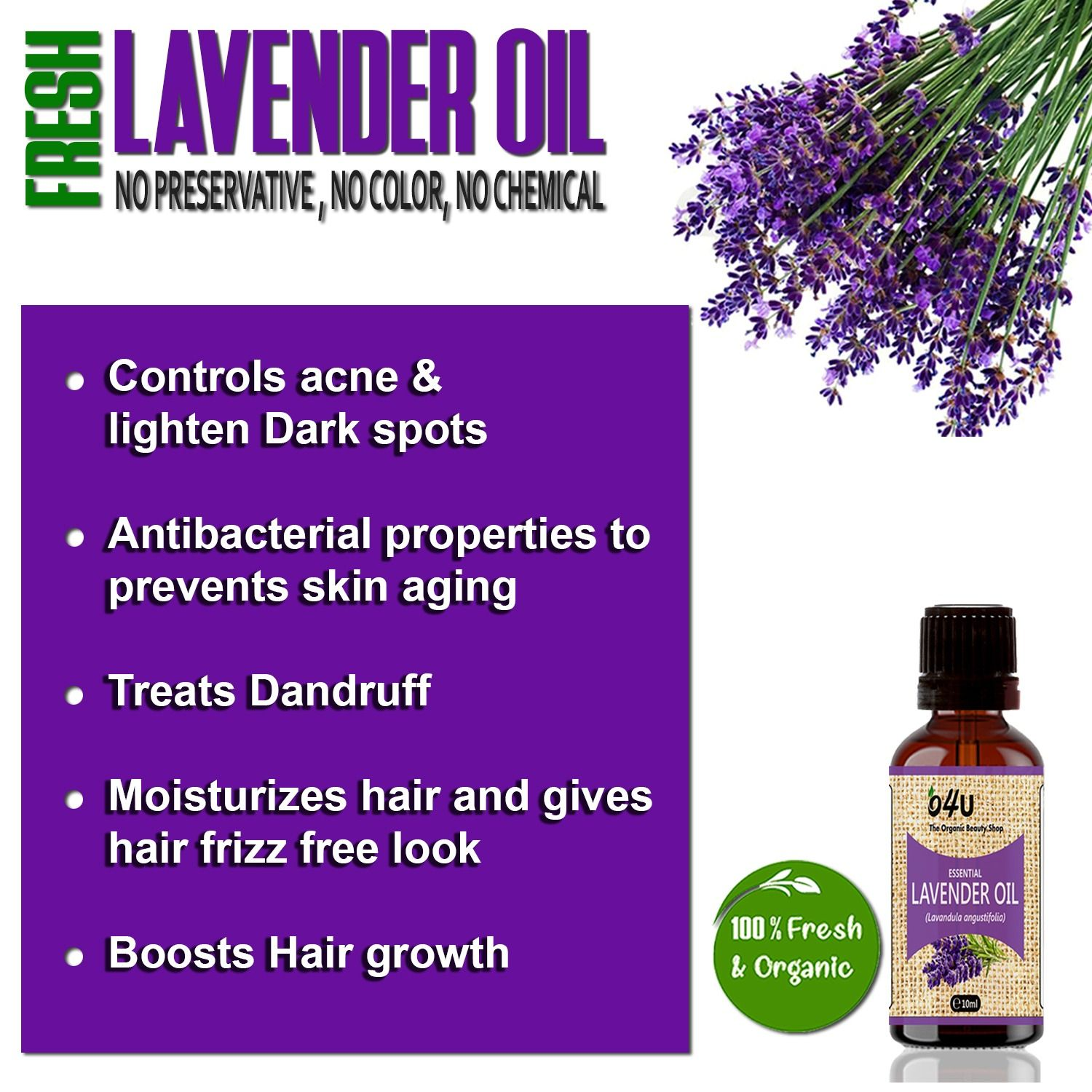 Naturally Steam Distilled From The Freshly Flowers Of The Lavender Plant Lavender Oil Promotes Hair Growth Strengthens Organic Hair Care Organic Essential Oil Carrier Oils