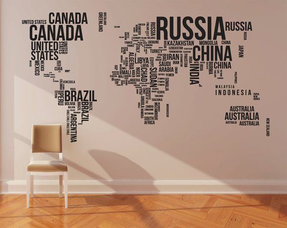 Map wall decal office home wall decor on etsy 26800 kiddos map wall decal office home wall decor on etsy 26800 gumiabroncs Choice Image