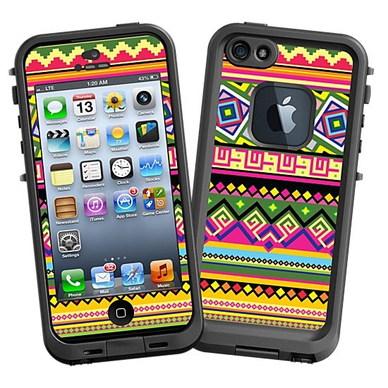 Happy Bright Tribal #Skin  for the #lifeproof #iphone5 and #iphone5s #Case by #Skinzy.com