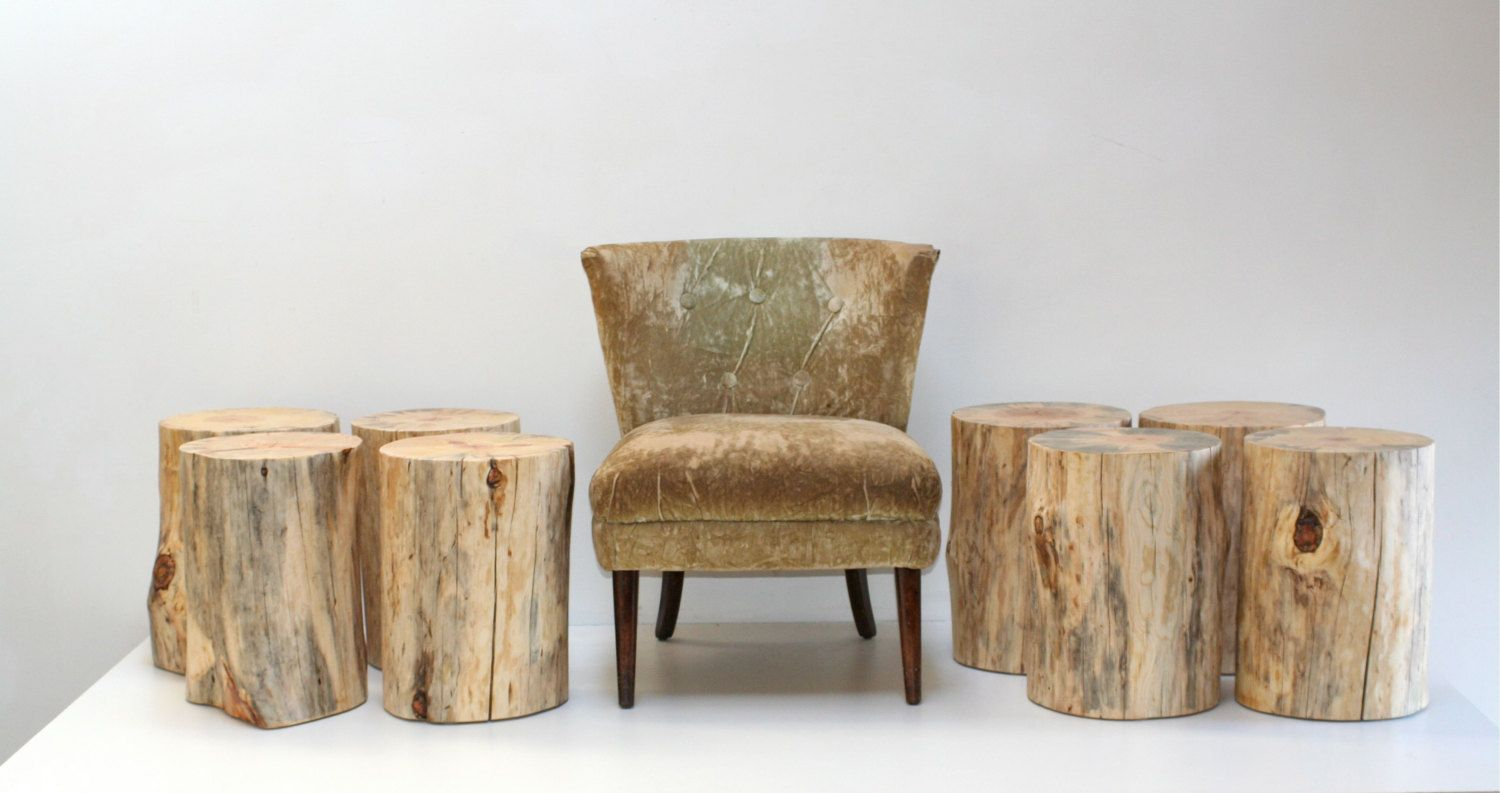 tree trunk furniture for sale. Stump Table Nude Tree Trunk Stool Seat | RealWoodWorks1 On Etsy Furniture For Sale A