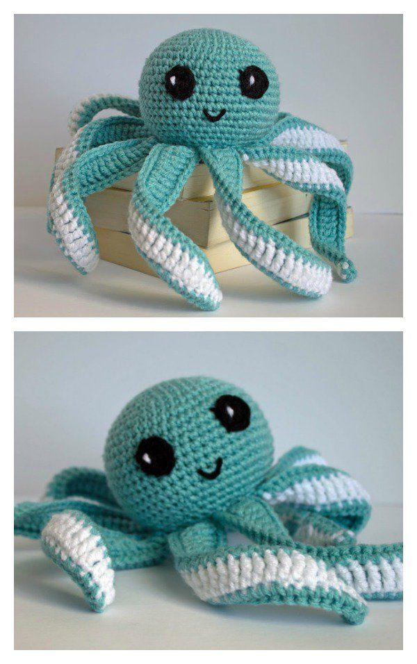 Free Amigurumi Patterns Octopus : Amigurumi octopus baby toy free crochet pattern