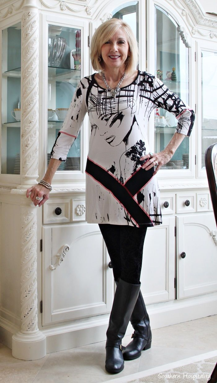 16bb5b8291e10 ... more on Fashion and Beauty Over 50 by Rhoda Southern Hospitality. tunic  and leggings