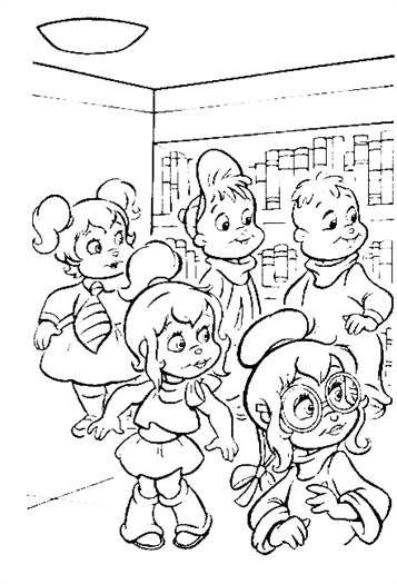 Malvorlage Alvin und die Chipmunks Alvin und die Chipmunks