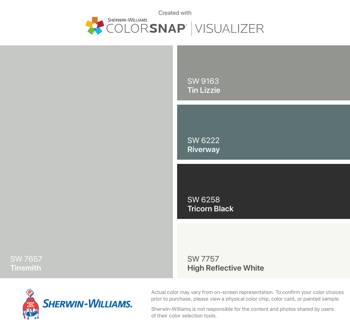 I Found These Colors With Colorsnap Visualizer For Iphone By Sherwin Williams Tinsmith Sw 7657 Tin Li Sherwin Williams Colors Tin Lizzie Best Paint Colors