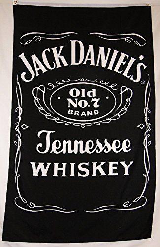 Jack Daniels Old No 7 Sour Mash Whiskey Flag 3 X 5 Vertical Banner