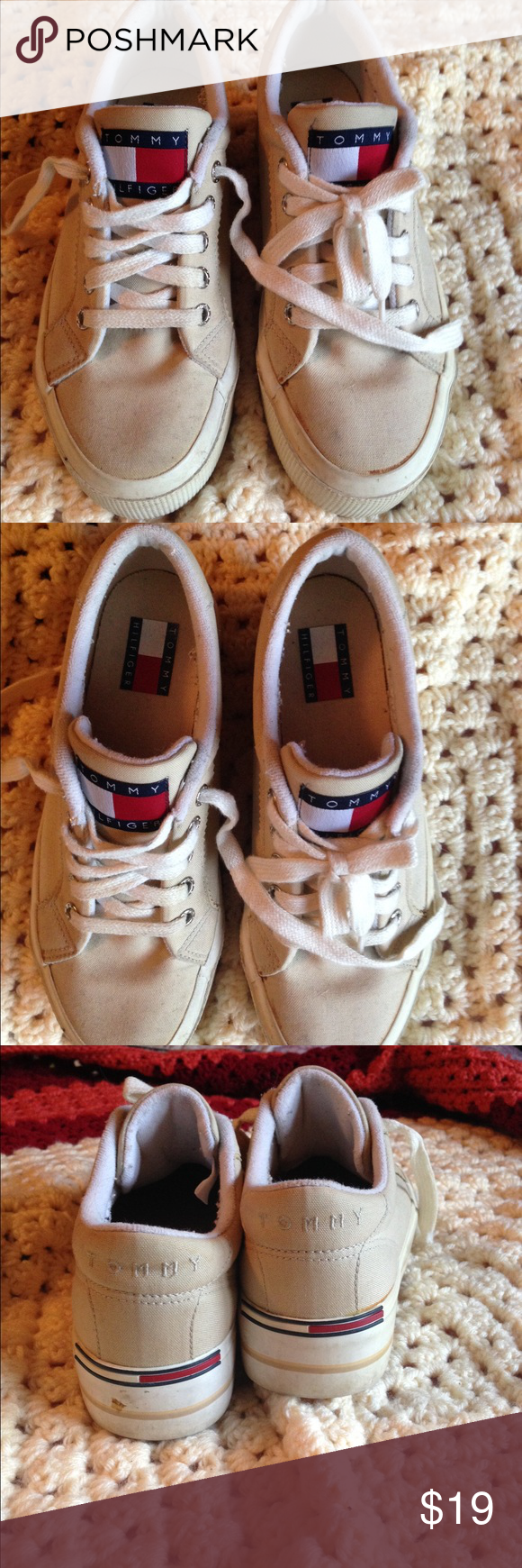 Tommy Hilfiger sneakers  worn few time Tommy Hilfiger sneakers worn few time and have a lot of life left , so clean . Tommy Hilfiger Shoes Sneakers