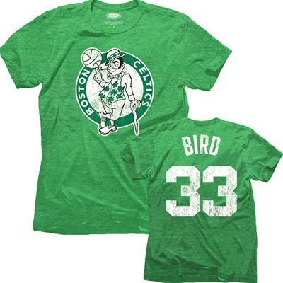 competitive price 8b12d 25c35 Boston Celtics NBA Larry Bird #33 Name & Number Triblend T ...