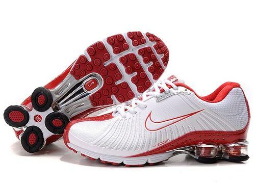 Nike Shox R4 Women Shoes Red White