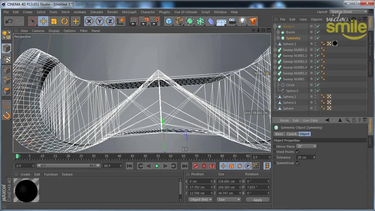 Простое моделирование в Cinema 4D