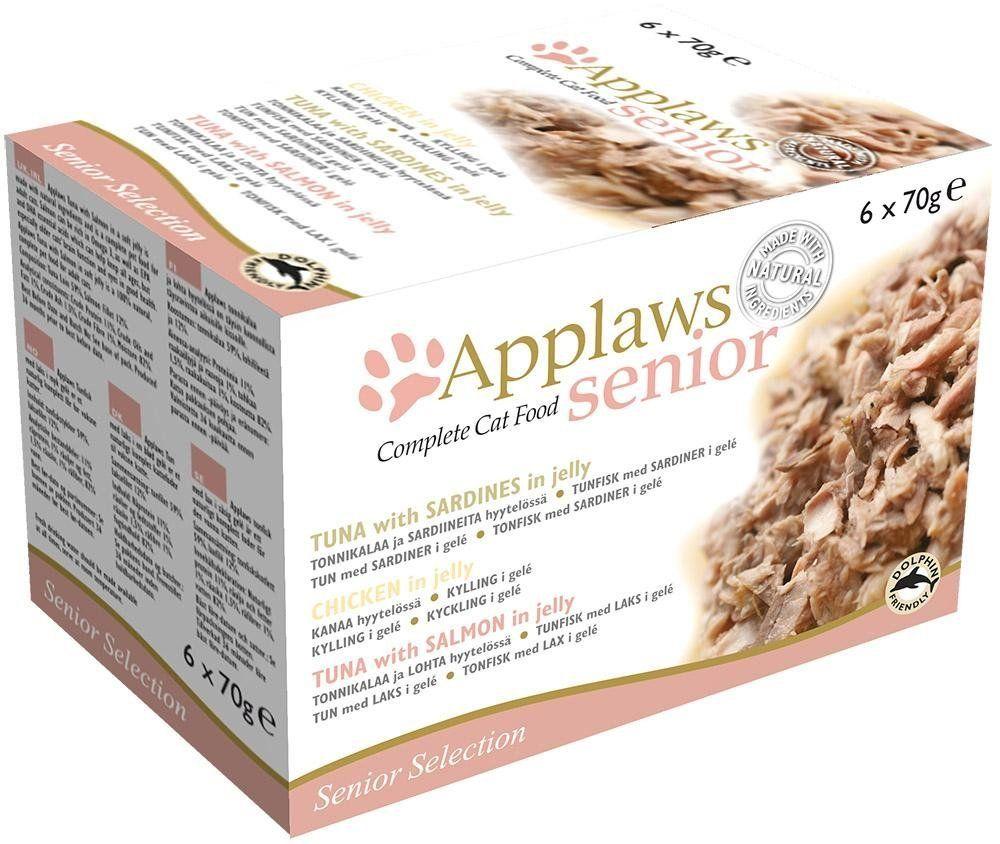 Applaws Cat Tin Senior Multi Pack 6x70g Pack Of 4 Cat Food Allergy Cat Food Reviews Food Coupons Printable
