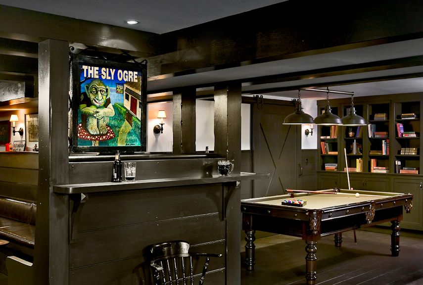 Idea For Basement With Low Ceiling Make It Like A Cellar Pub Crisp Architects