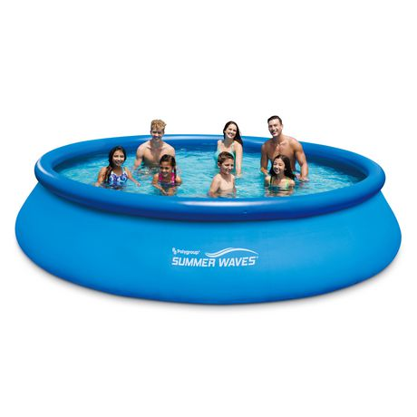 Summer Waves 15ft Quick Set Pool Blue 15 Feet Portable Swimming Pools Summer Waves Above Ground Swimming Pools