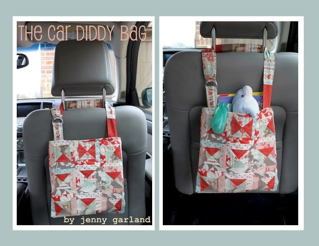 The Car Diddy Bag - Free PDF Sewing Tutorial by Jenny Garland #sewing