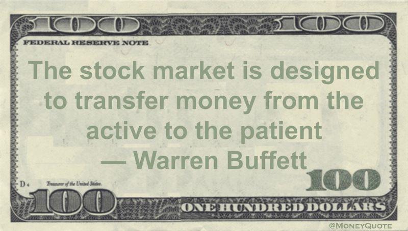 F Stock Quote Warren Buffett Market Rewards Patience  Stock Option Trading .