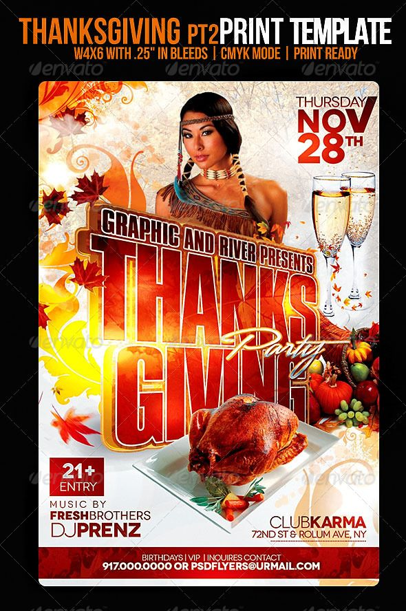 Thanksgiving Flyer Event Flyers Template And Flyer Template