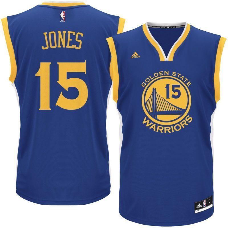 Damian Jones Golden State Warriors adidas Road Replica Jersey - Royal 826873641