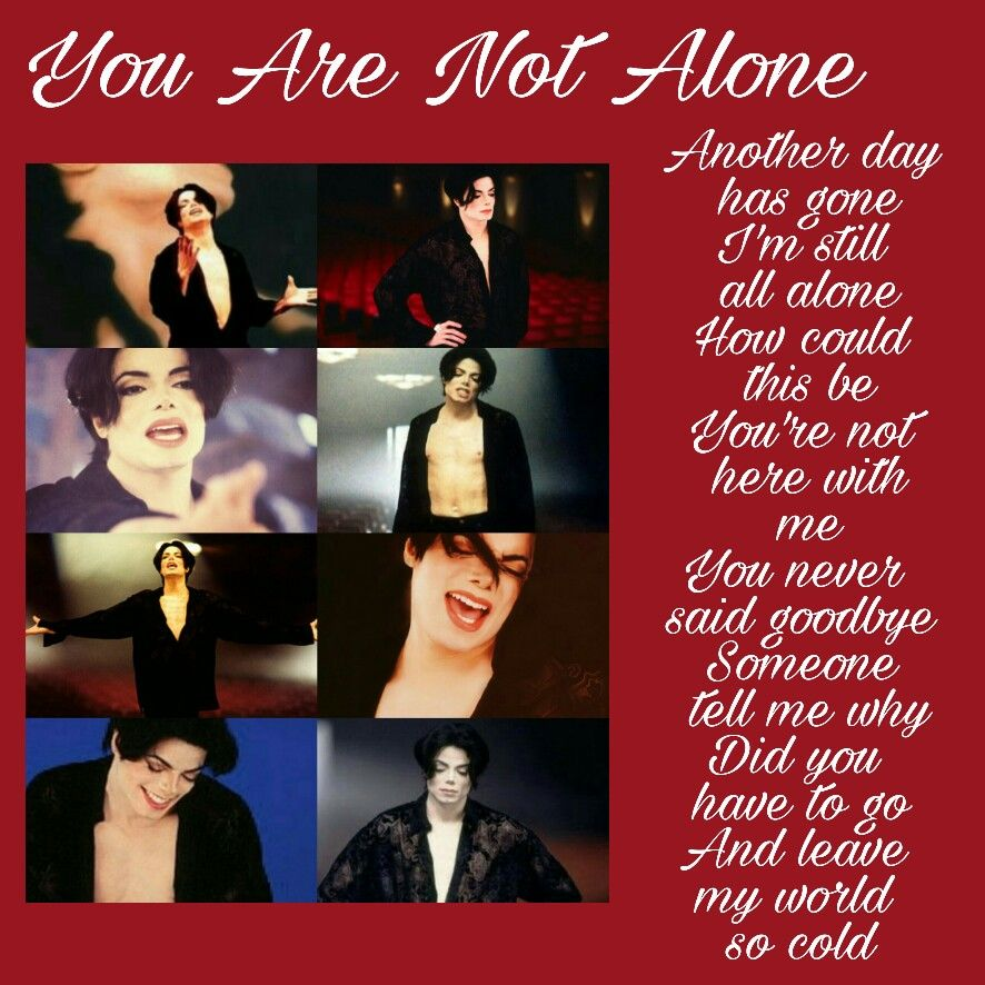 Michael Jackson You are not alone | My Michael creations in 2019