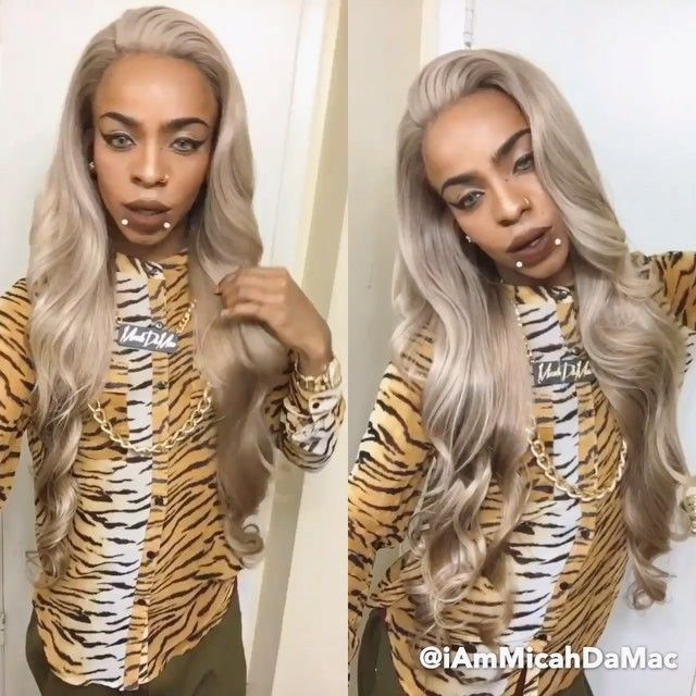 """"""" Excuse All My Haters Cause They Lookin Sideways """" When You Get Your Hair #SlayedByDaMac ✨  Purchase Your Units At TheSecretsToTheSlay.BigCartel.com NOW (link In My Bio) Hair From: @virginhairobsession  Custom Ash Silver Lace Frontal Unit"""