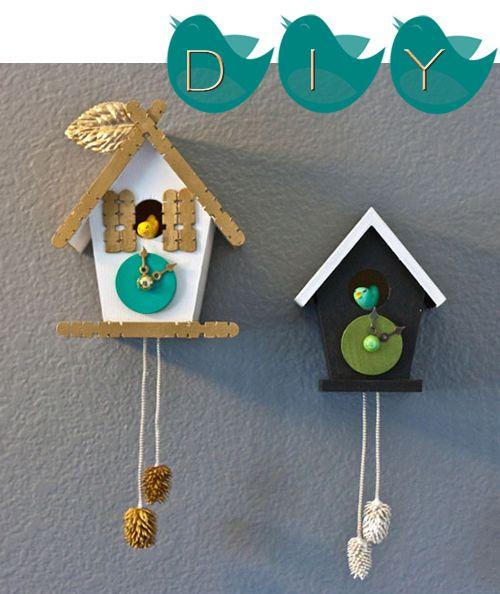 b171029f8be708 cute DIY cuckoo clock tutorial | Kids Stuff | Diy clock, Clock craft ...