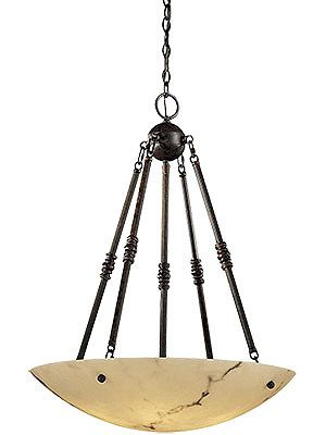 Chandeliers. Virtuoso Pendant Chandelier With Faux Alabaster Shade