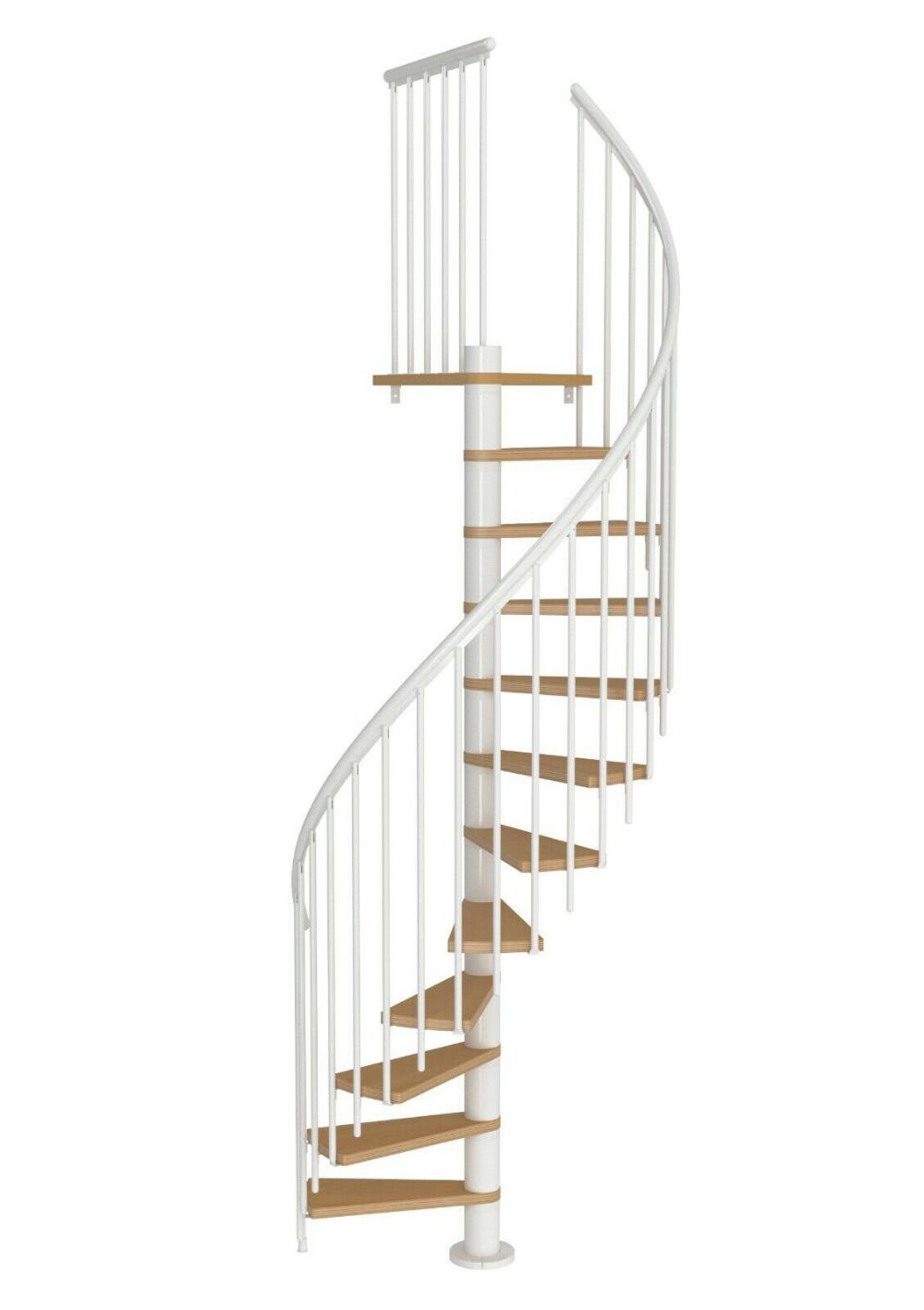 Best Dolle Calgary White Loft Spiral Staircase Kit 1200Mm 400 x 300