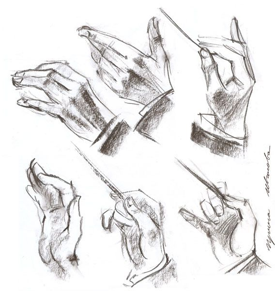 https://flic.kr/p/HFAGCt | 30-05-16s | sketches of a conductor's hands for a portrait