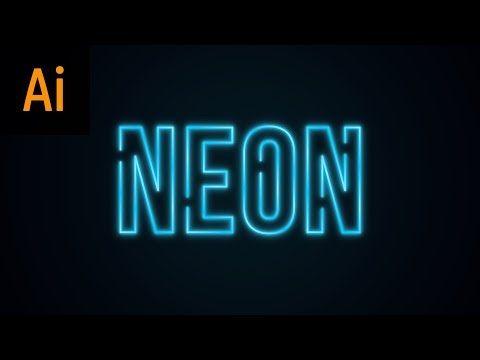 neon text effect illustrator tutorial youtube graphic design