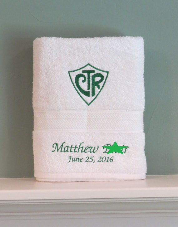 Standard Bath Towel Size Ctr Choose The Right Mormon Baptism Towel Personalized Lds Gift
