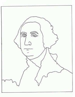 George Washington Coloring Page Based On Painting By Gilbert