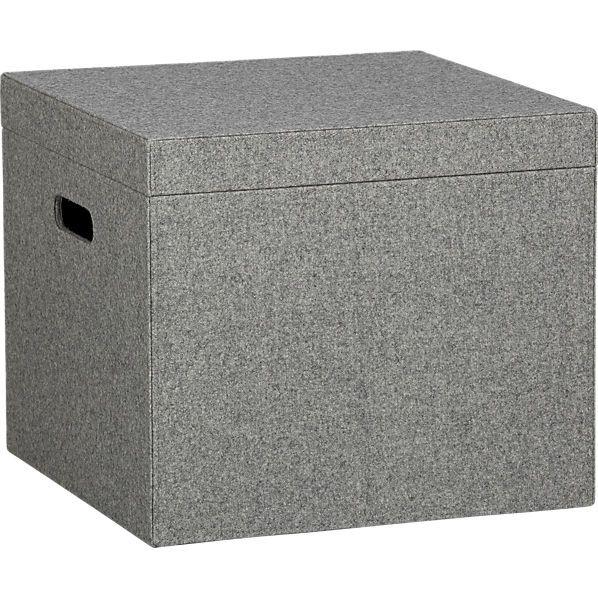 Decorative File Boxes Fair Grey Felt File Box  Apartments Storage And Window Benches Design Decoration
