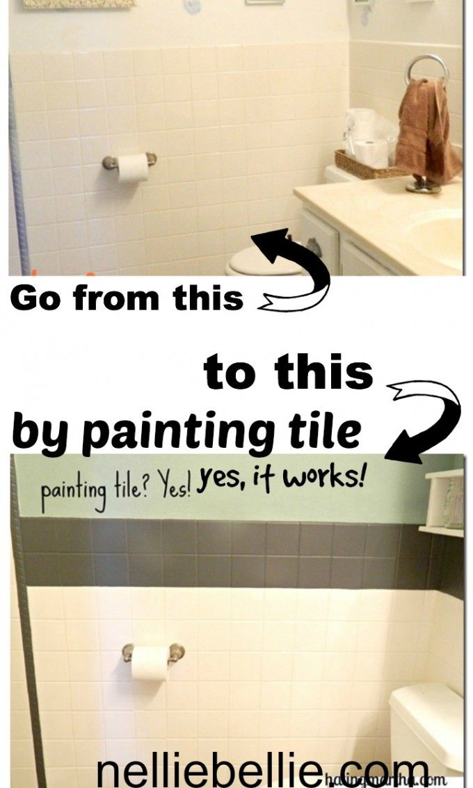 Did You Know You Can Paint Tile A Tutorial With The Kinds Of Paint To Use One Of Which Is Simple All Painting Tile Painting Bathroom Tiles Bathrooms Remodel