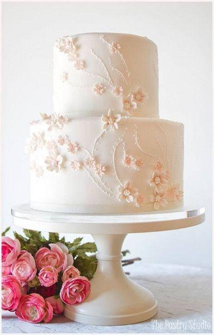 Wedding cakes white simple flowers 57 trendy ideas