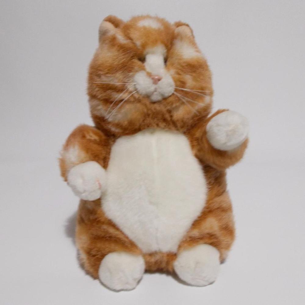 "Russ Prudence Plush Cat Orange Tabby 8"" Tall Kitten"