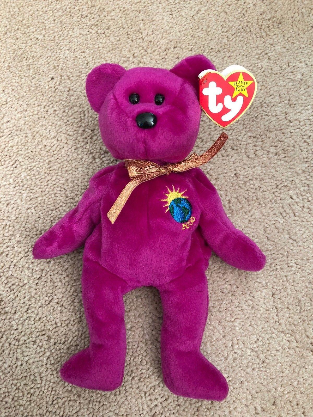 31de12873fd EXTREMELY RARE - Errors - TY Beanie Baby Millennium Millenium Bear - RETIRED