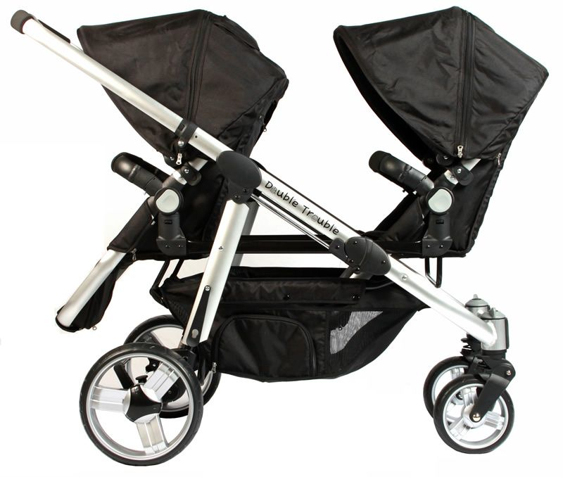 Twin Pram Stroller Seat Double Trouble Twin Pram
