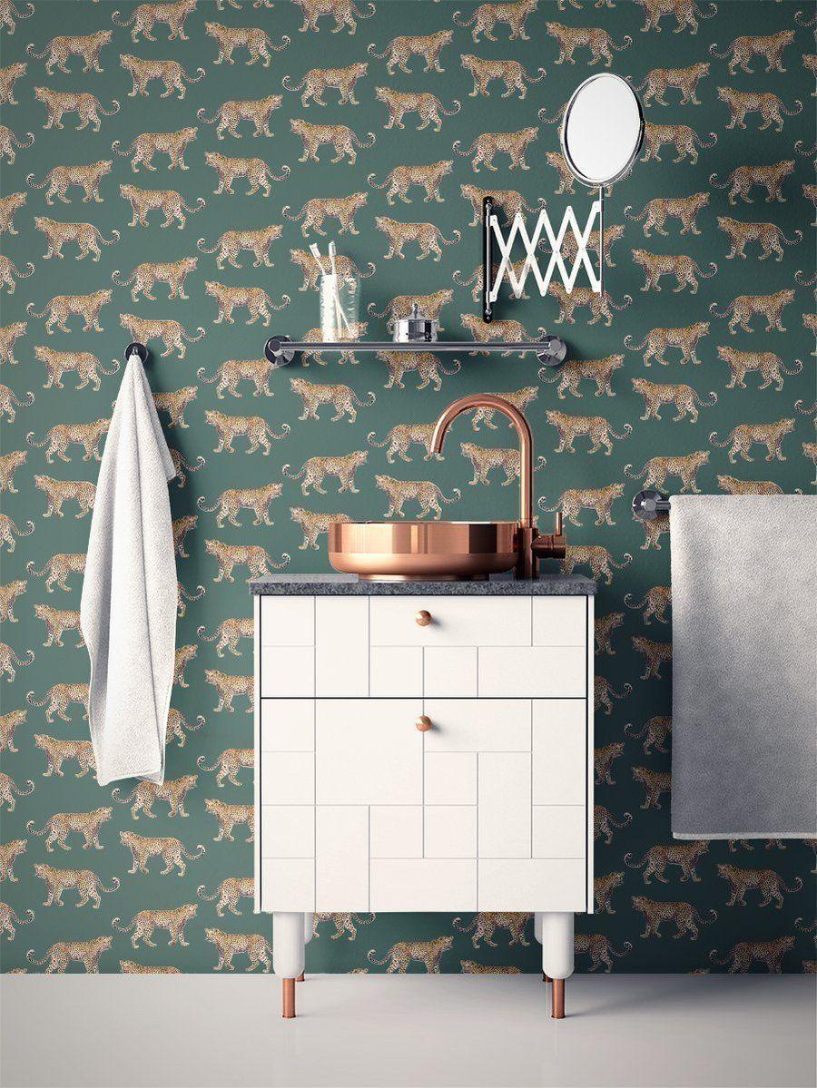 Cheetahs Peel Stick Wallpaper In 2020 Cheetah Wallpaper Peel And Stick Wallpaper Blue Trellis Wallpaper
