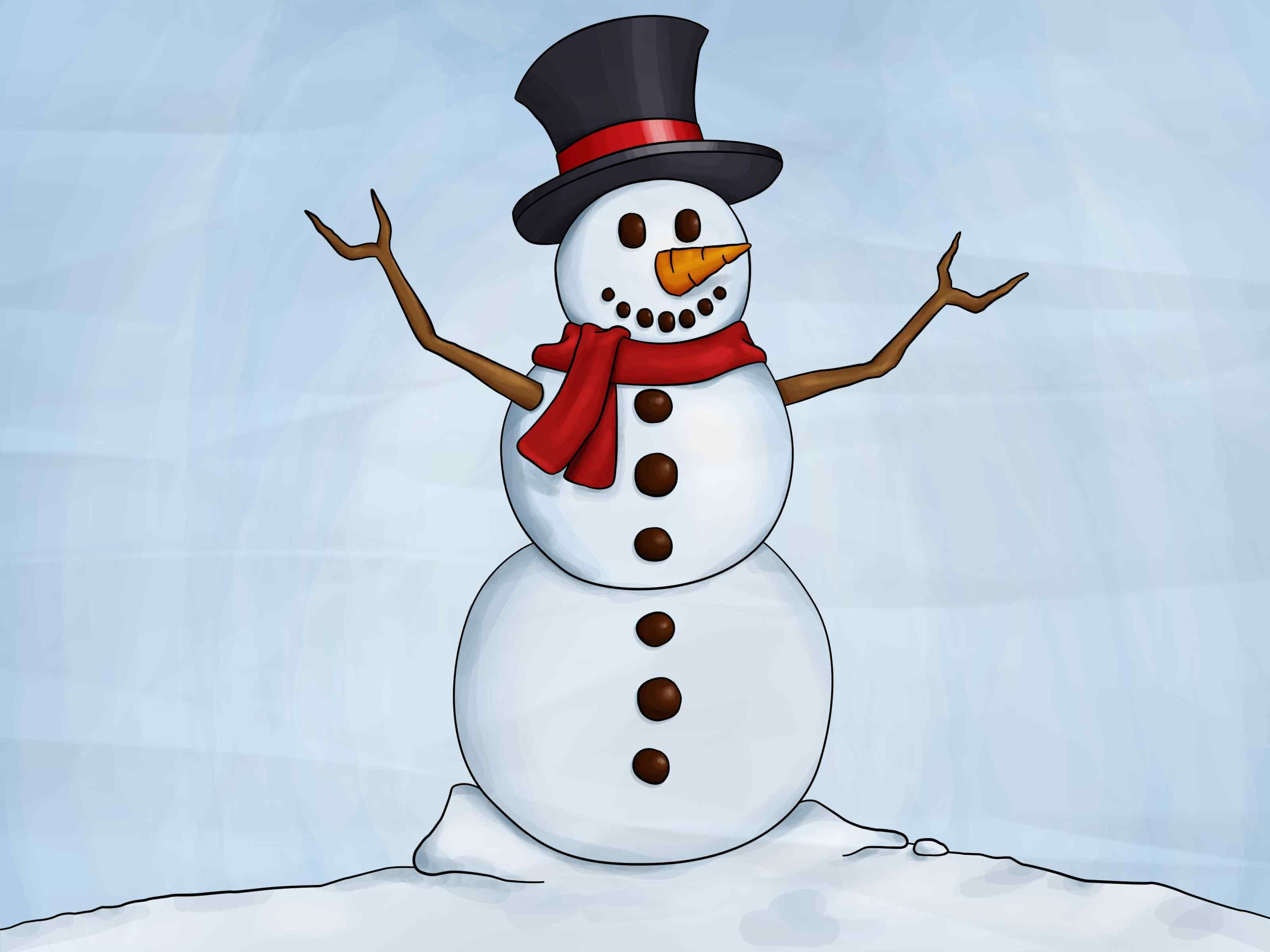 12 + Inspirational Cute Christmas Snowman Drawings We love