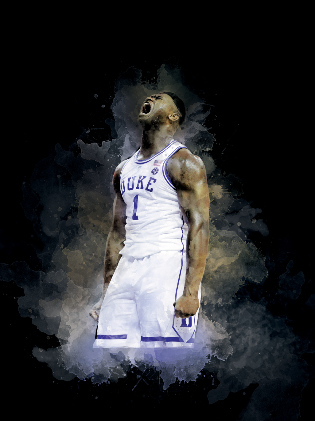 Zion Williamson Poster Sports Art Print Sports Art Watercolor Paintings Abstract