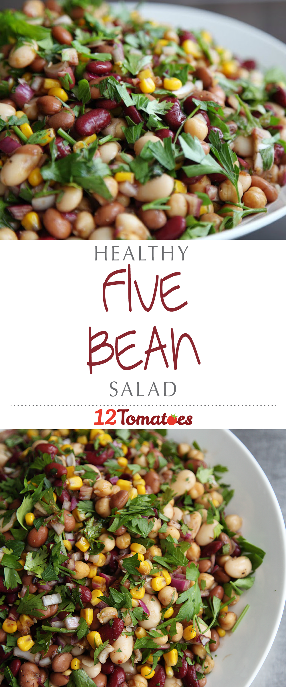 Healthy 5 Bean Salad Packed Full Of Minerals And Fiber