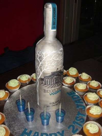 Belvedere Vodka Bo E Cake I Mustve Been Crazy To Even Attempt An Upright Bo E Cake Chocolate Cake Covered In Fondant With