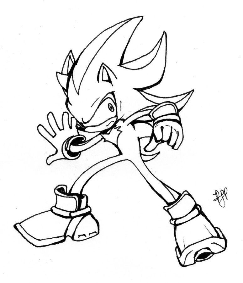 Shadow The Hedgehog Coloring Pages Shadow The Hedgehog Inks By Shadow The Hedgehog Coloring Pages